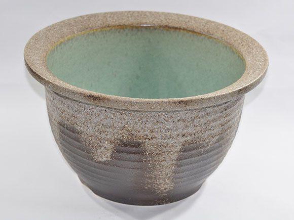 灰釉千段水鉢 13号