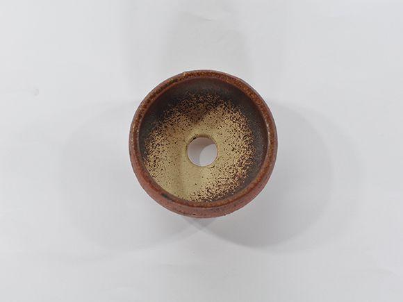 信楽焼 盆栽山野草鉢 鉄鉢 小