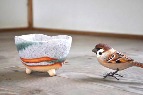 白掛三ツ足 鉢