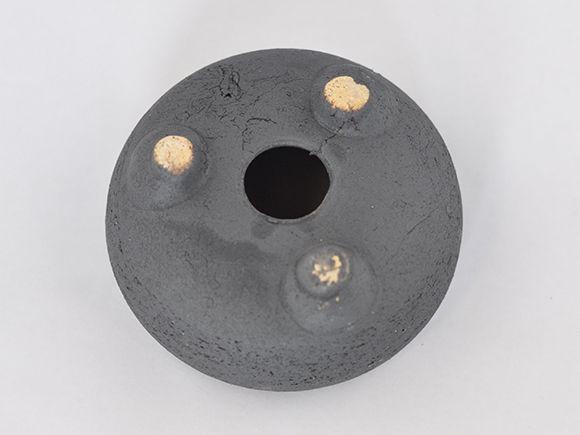 信楽焼 鉄鉢 いぶし