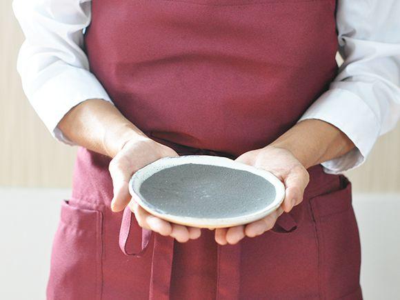 苔玉の丸皿