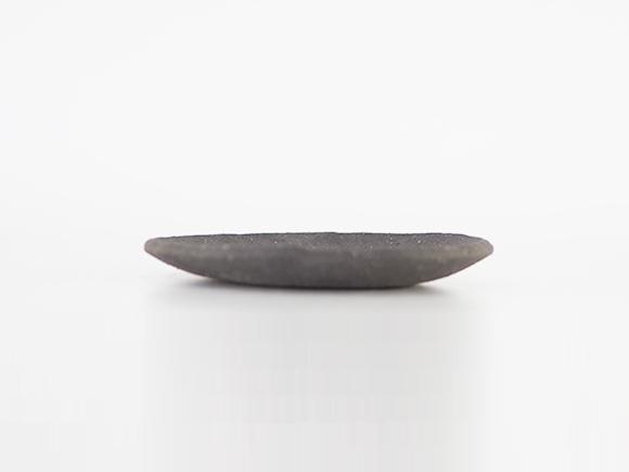 4.5号 黒いぶし手作り 丸皿