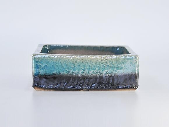 ブルーガラス 正方形5号