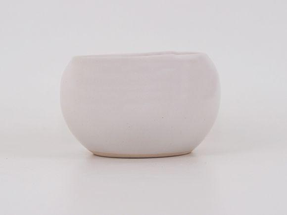 万古焼 白 3.5号 1504-WY 幅10.8cm×高さ6.8cm