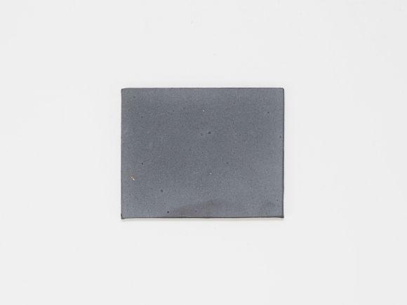 万古焼 黒 2.5号 長角陶板 小 幅8.5cm×奥行6.5cm
