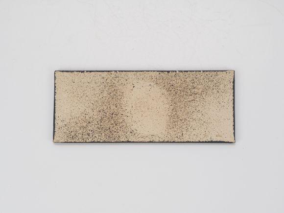 万古焼 黒 5号 長角陶板 中 幅16.5cm×奥行6.5cm×高さ0.5cm