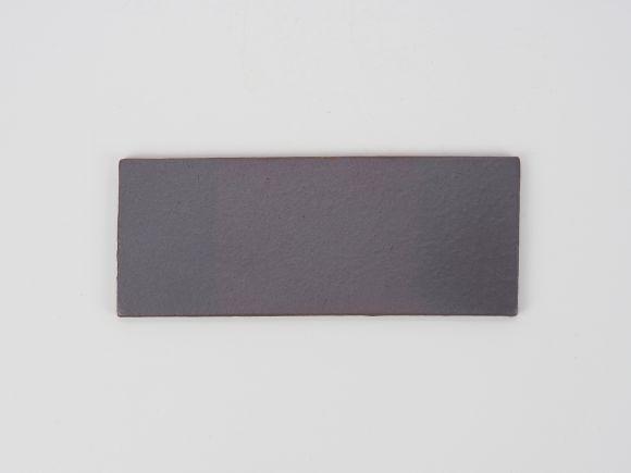 万古焼 茶 5号 長角陶板 中  幅16.5cm×奥行6.5cm×高さ0.5cm