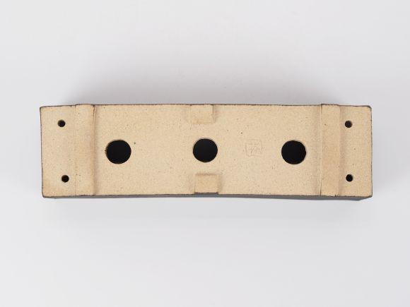 万古焼 黒 7.5号 長角 大  幅23.3cm×奥行6.5cm×高さ6.5cm