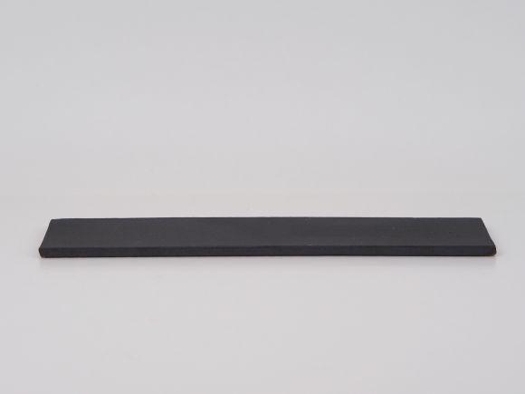 万古焼 黒 7.5号 長角陶板 大 幅23.3cm×奥行6.5cm×高さ0.5cm