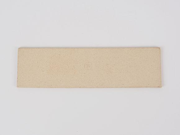万古焼 白 7.5号 長角陶板 大 幅23.3cm×奥行6.5cm×高さ0.5cm