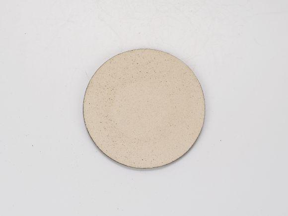 万古焼 黒 3号 丸陶板 幅9.6cm×0.5cm