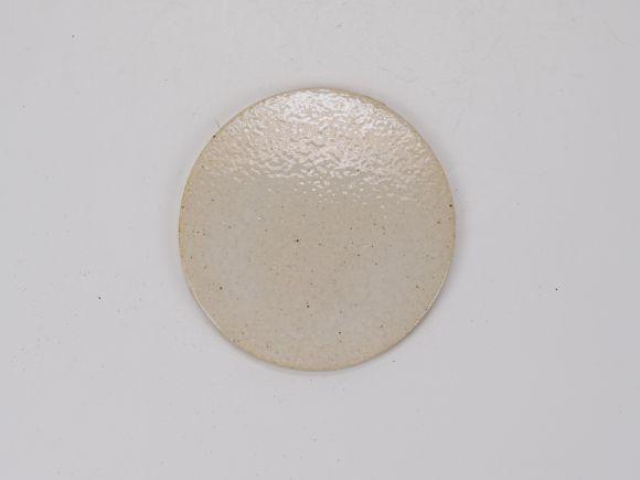 万古焼 白 3号 丸陶板 9.6cm×0.5cm