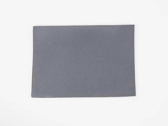 万古焼 黒 6号 長角陶板 小 幅19cm×奥行13.5cm×高さ0.5cm