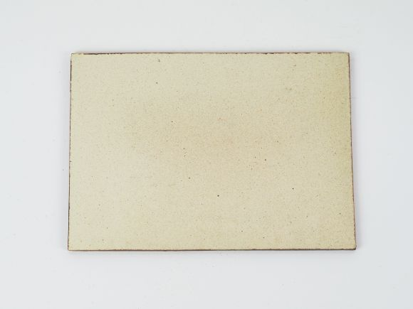 万古焼 茶 6号 長角陶板 小 幅19cm×奥行13.5cm×高さ0.5cm