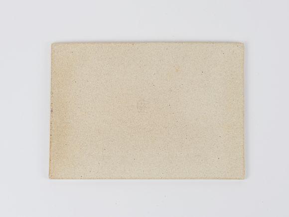 万古焼 白 6号 長角陶板 小 幅19cm×奥行13.5cm×高さ0.5cm