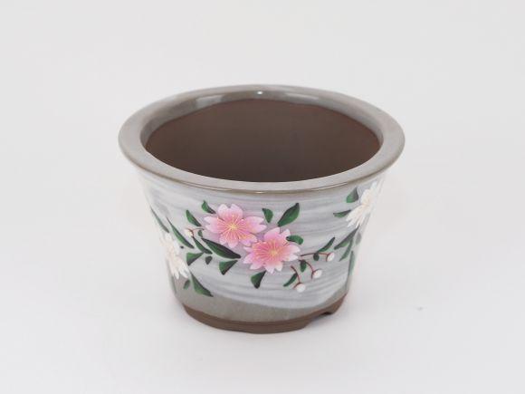 九谷焼 手書き桜 4号 幅12.5cm×高さ7.8cm