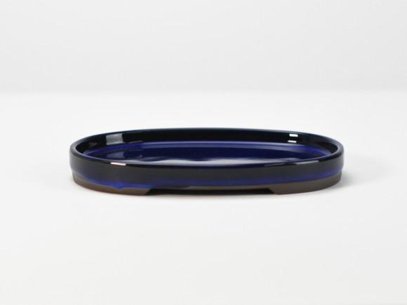 万古焼 小判水石 生子 5号 幅15.8cm×奥行10.5cm×高さ1.7cm