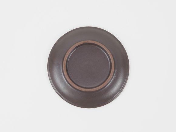 万古焼 丸受皿 黒 4号 幅12cm×高さ1.5cm