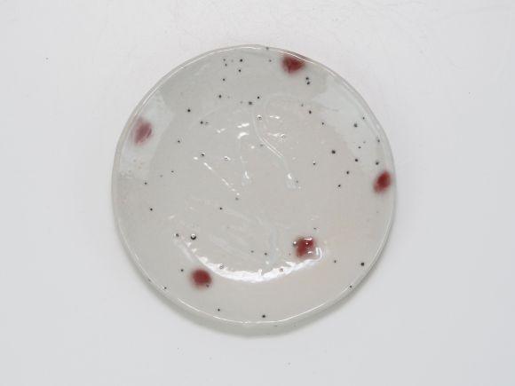 作家鉢 宗蔵作  波紋 ピンク 受け皿