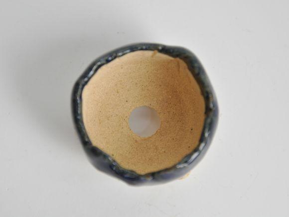 青ひねりミニ鉢 【盆栽鉢】【2号】【信楽焼】 幅5cm×高さ4cm