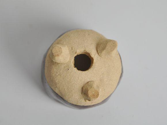 茶ひねりミニ鉢 【盆栽鉢】【2号】【信楽焼】 幅5cm×高さ4cm
