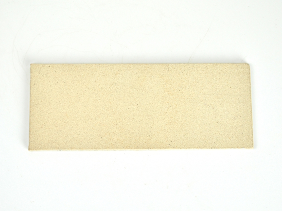 万古焼 白 5号 長角陶板 中 幅16.5cm×奥行6.5cm×高さ0.5cm