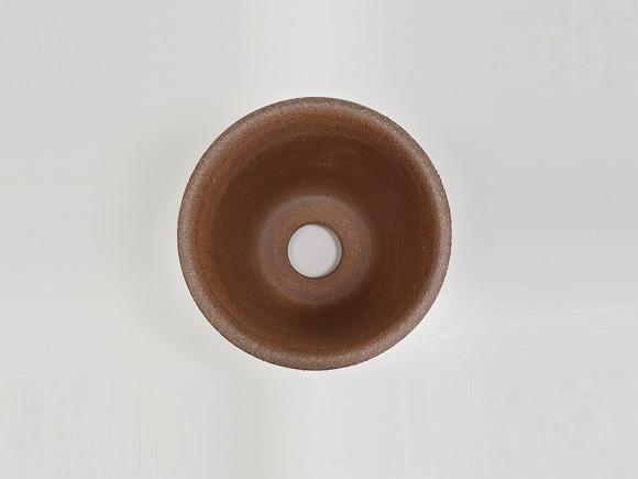 刷毛目 5号 エビネ鉢  幅16.5cm×高13.5cm