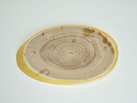 盆栽花台 ネムの木 楕円大 横約21〜24cm×縦約14〜17cm×高さ約1〜1.5cm