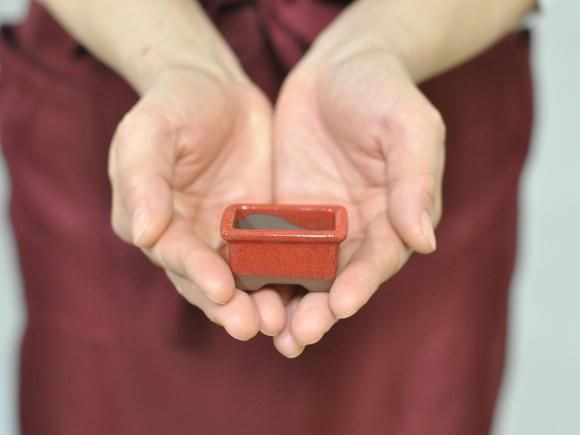 赤釉小鉢 12点セット 鉢幅約4cm×高さ約3.5cm