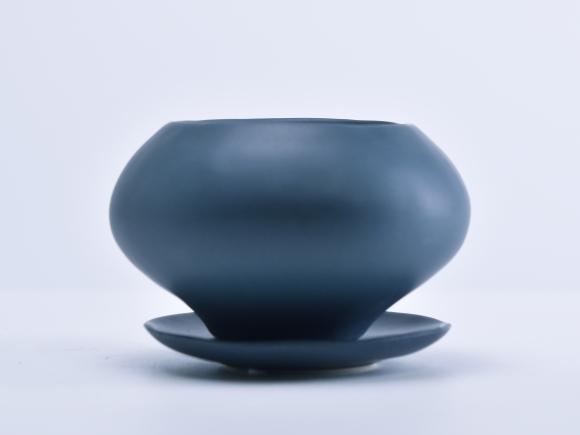 葉室-はむろ- 濃青S【受け皿付き】幅11.5cm×高さ7cm/内寸幅7cm