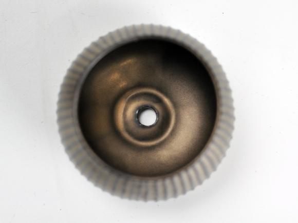 ラピスボウル ブロンズ【受け皿付き】幅約10.5cm×高さ約7.5cm/内寸幅約7.5cm