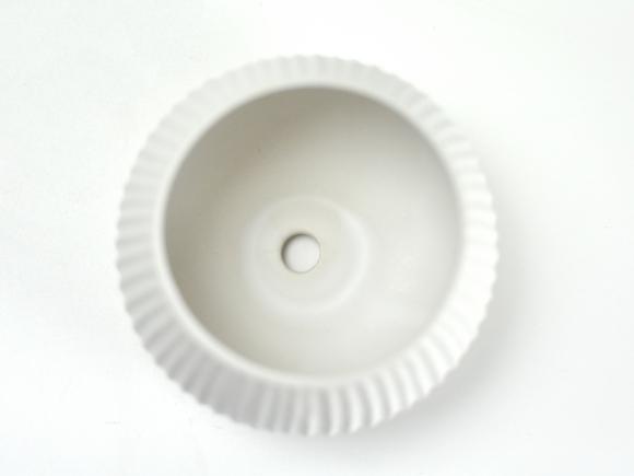 ラピスボウル 白【受け皿付き】幅約10.5cm×高さ約7.5cm/内寸幅約7.5cm