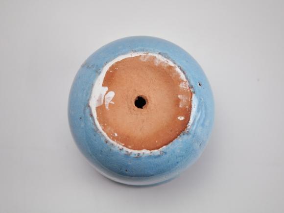 ステララウンド 青M【受け皿付き】幅13cm×高さ13cm/内寸幅11cm