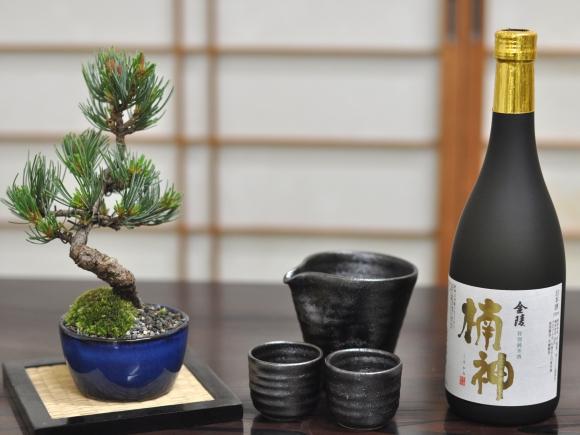 父の日 盆栽ギフト ミニ五葉松と地酒、酒器のセット 育て方冊子&肥料付き【送料無料】
