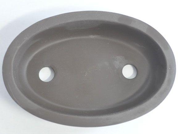 泥物浅型盆栽鉢