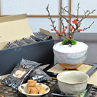 長寿梅 信楽鉢と瀬戸内ラスクのセット